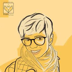 Porträts & Illustrationen für fem4scholar - Unterstützung für Frauen in der Wissenschaft.