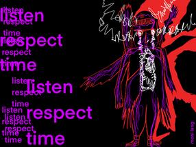 Listen Time Respect - Illustration für frauenseiten.de