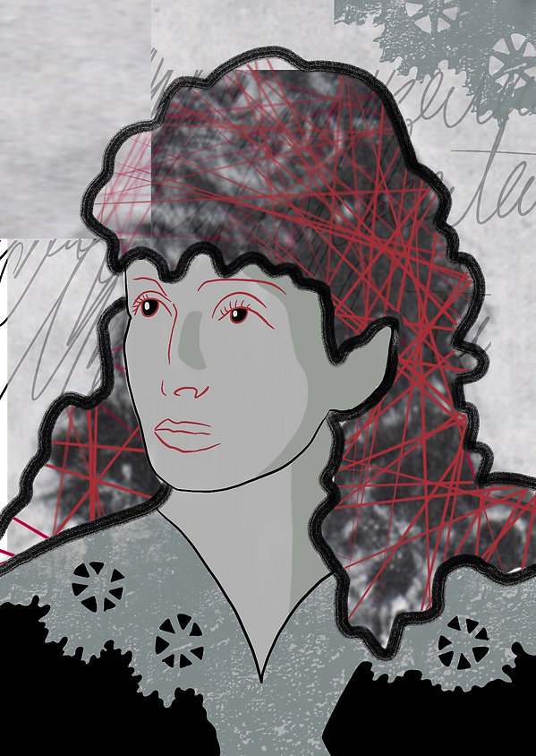 Portrait Hedwig Dohm - Brigitte Boomgaar