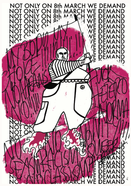 Plakat zum feministischen Kampftag 2021 (Druck per Mailanfrage)