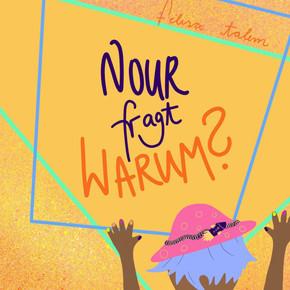 Nour fragt Warum Buchcover - monilang.de (brigitte boomgaarden)