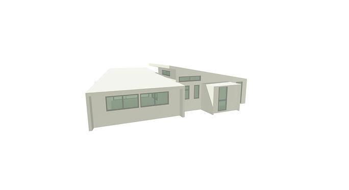 banks peninsula little river house 3d model