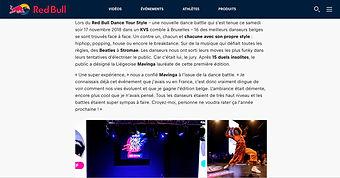 winnr redbull dance your style 2018 Mavinga house dance Belgium