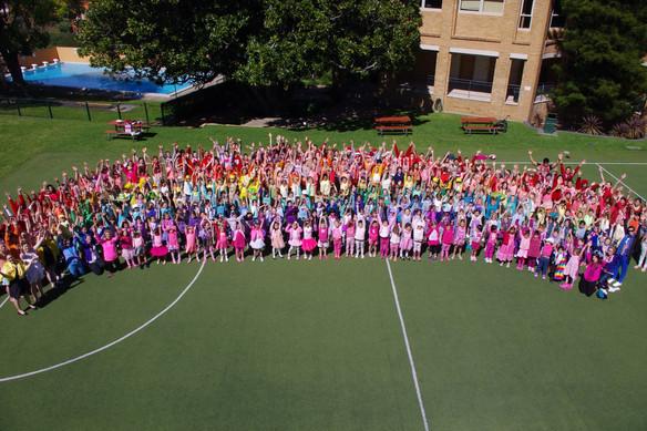 A rainbow fundraiser