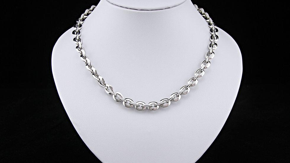 Halskette Ankerkette 45 cm, 585 Weissgold