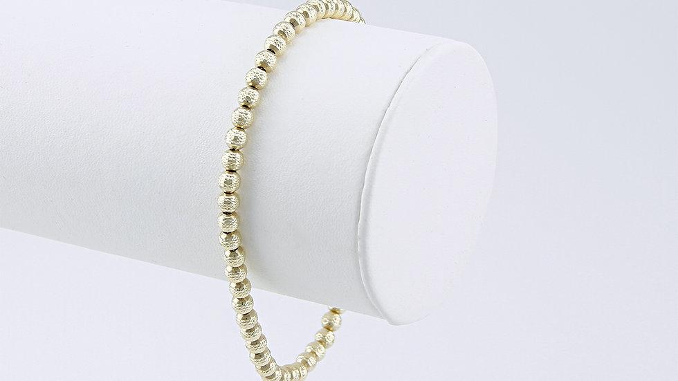 Armband Kugelkette 19 cm, 585er Gold