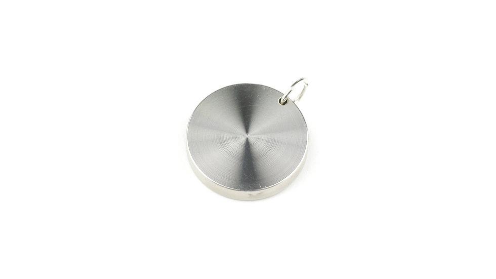 ZES Vision Body Chip in Edelstahl ungraviert  als Anhänger für eine Kette. Optimaler Schutz vor Strahlenbelastung im Alltag.
