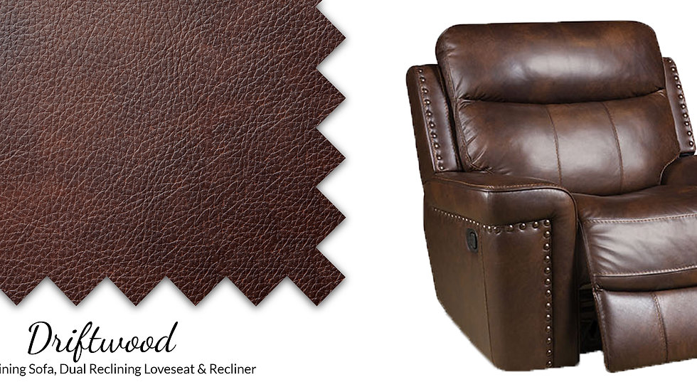 ALL LEATHER DRIFTWOOD RECLINER