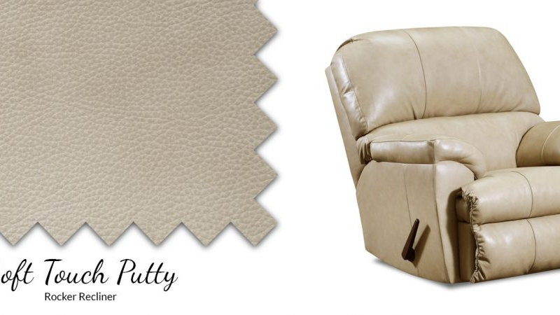 SOFT TOUCH ROCKER LEATHER RECLINCER