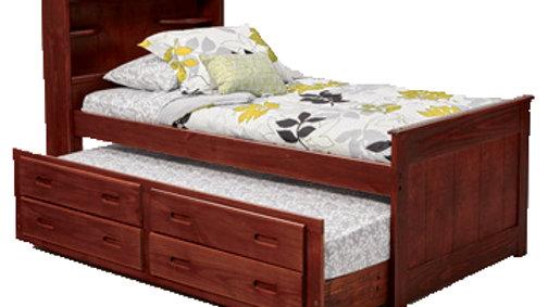 TWIN BKS CAPTAINS BED