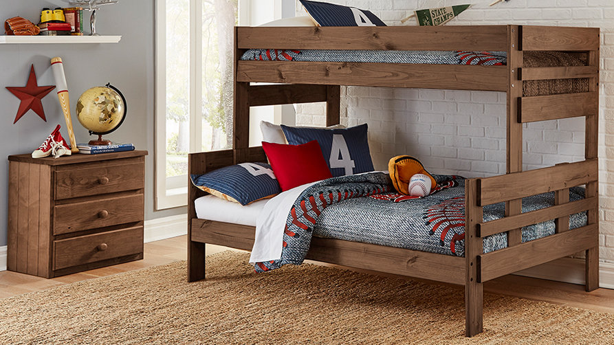 CHESTNUT TWIN OVER FULL BUNKBED