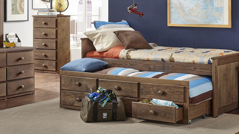 CHESTNUT TWIN CAPTAINS BED