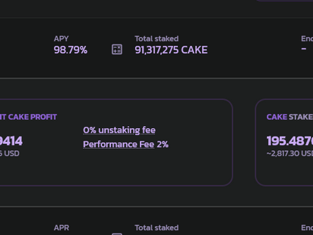 How to earn 98% APY on PancakeSwap Crypto Pools