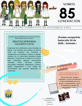 Invitación para Talento CEFA