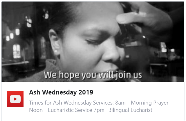 Ash Wednesday 2019 | St. Stephen and the Incarnation Episcopal Church