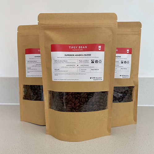 Superior Arabica Blend (Whole bean) – 3 x 200g net