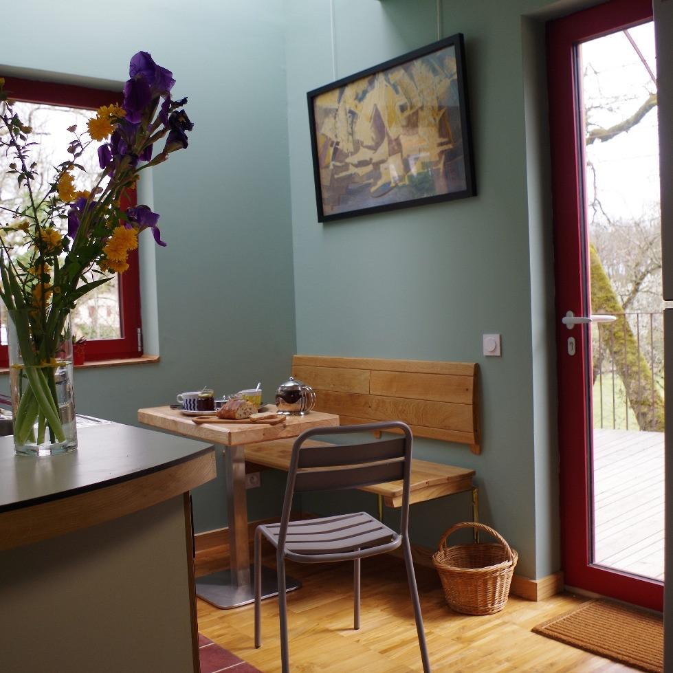 cuisine avec accès terrasse