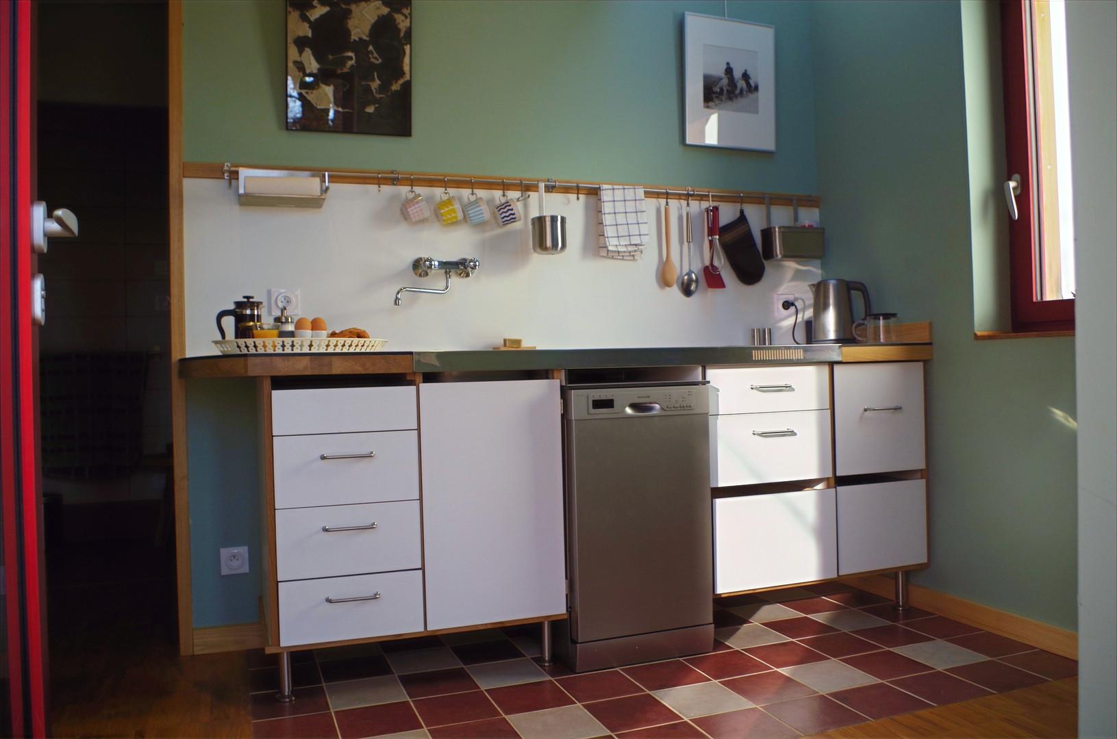 cuisine + lave-vaisselle + four double fonction