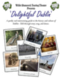 'Delightful Dublin' Poster, Wilde Shamrock Touring Theatre, Irish Actors