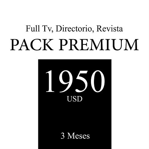 Pack Premium de publicidad en Tv, Revista y Directorio