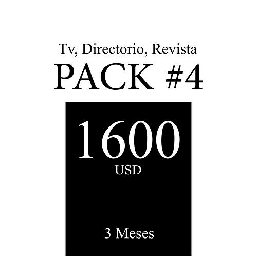 Pack 4 de publicidad en Tv, Revista y Directorio