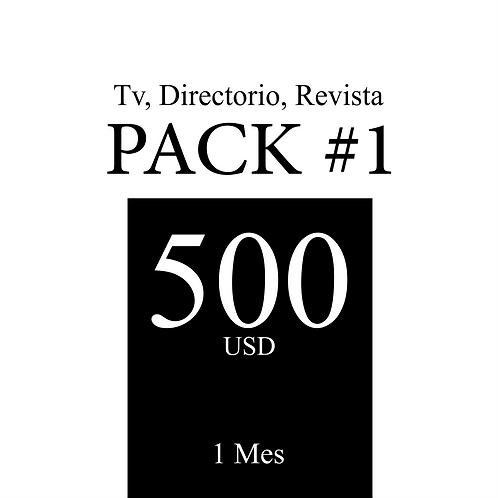 Pack 1 de publicidad en Tv, Revista y Directorio