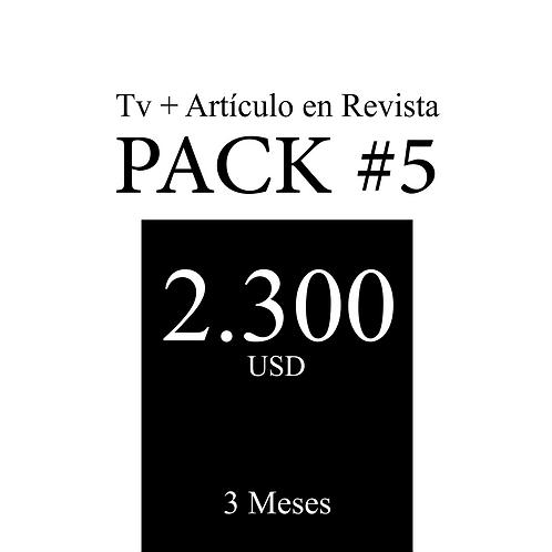 Pack #5 de Tv + Artículo en Revista