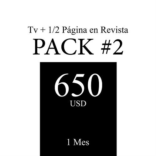 Pack 2 de publicidad en Tv + 1/2 Página en Revista