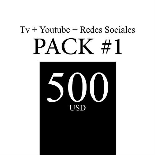 Pack 1: Comercial de Tv +Youtube + Redes Sociales