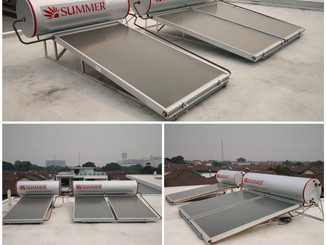 Solar thermal system for bungalow