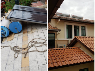 Dismantle and replace new solar thermal system