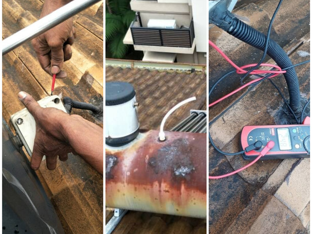 Preventive Maintenance to inspec t on solar thermal system