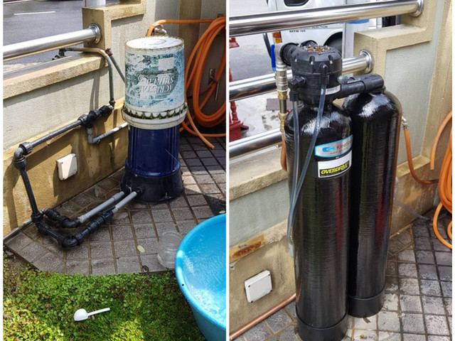 Replace existing filter with Kinetico Mach Series OD 2060f