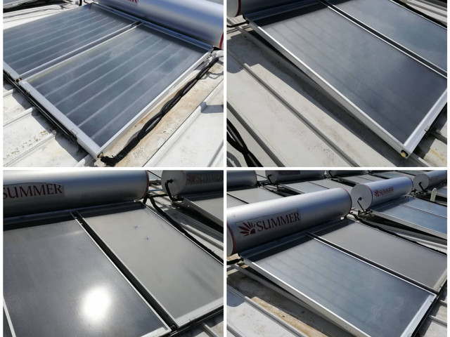 Service and Replace of Leakage Solar Tanks and Collecters