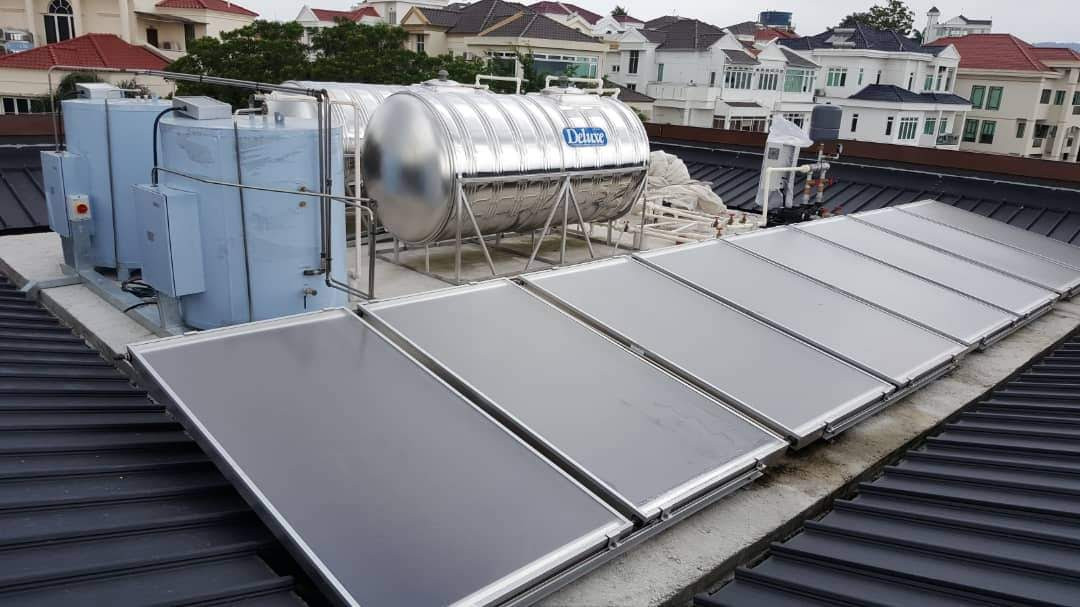 Solar Forced Circulation System for Bungalow