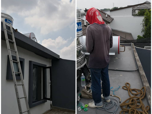 Installation of new solar system for residential