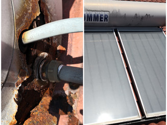 Inspection of faulty solar thermal system