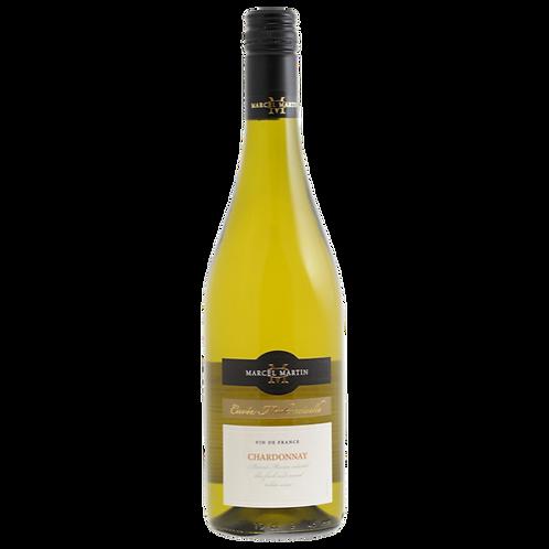 Fles witte wijn