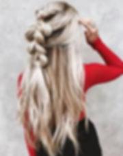 blonde boho