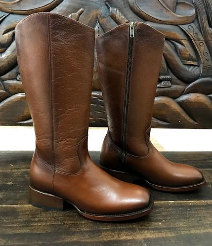 Ladies Deer Skin Zip-Up Equestrian Boot (Honey)