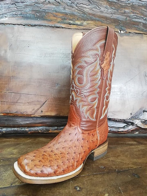 """J. W. Ranch Outrider"" in Full Quill Ostrich (Honey Marble)"