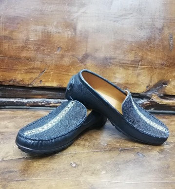 """""""The Executive"""" Manta ray Moccasin Loafer (Black)"""