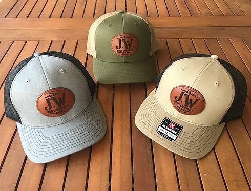 (J. W. Boot Company) Leather Patch Hats