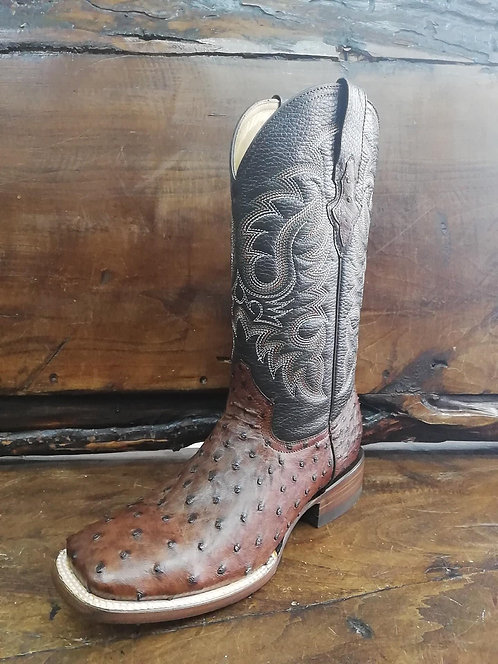 """J. W. Ranch Outrider"" in Full Quill Ostrich (Brown)"