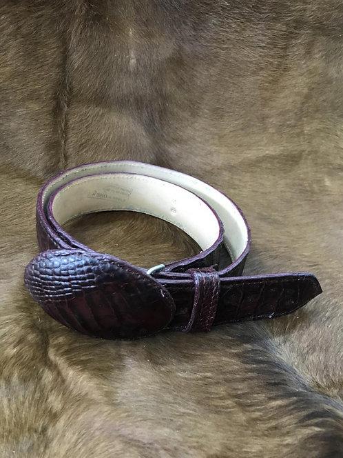 Ostrich skin Belt (Vino)