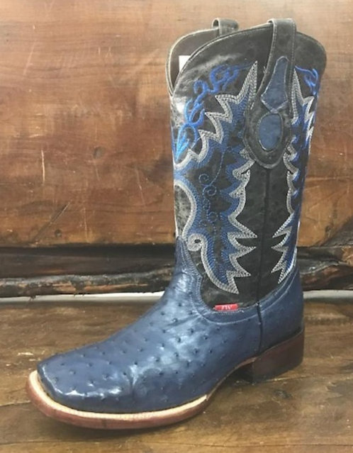"""""""The Outrider"""" in Full Quill Ostrich (Denim)"""