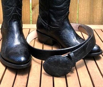 Teju Lizard Skin Belt (Match To Boot Color)