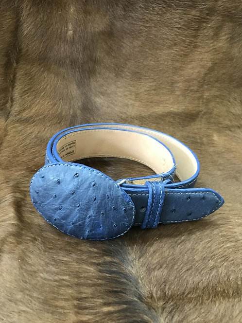 Ostrich Quill Belt (Denim)