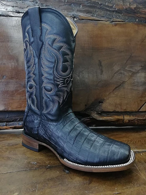 """J. W. Ranch Outrider"" in Caiman Belly (Black)"
