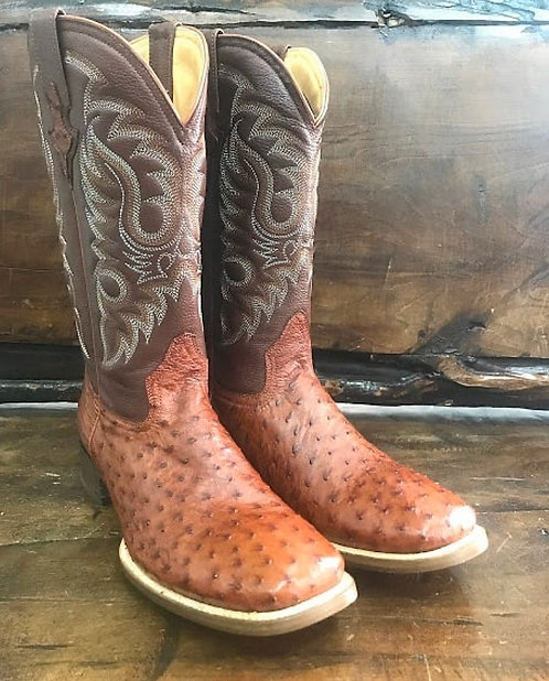 """""""J. W. Ranch Outrider"""" in Full Quill Ostrich (Honey)"""
